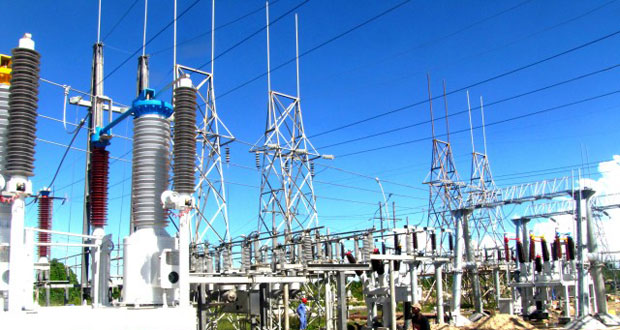 The new Guyana Power and Light substation at Sophia