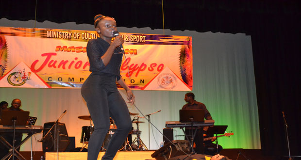 Shontelle Gittens is Junior Calypso Monarch 2014