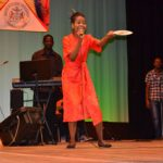 Junior Calypso Monarch 2014, Shontelle Gittens, woos the audience at last Friday's competition.