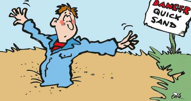 quicksand cartoon | pictandpicture.org
