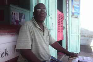 Village Chairman, George Nedd was ready to share information on the village