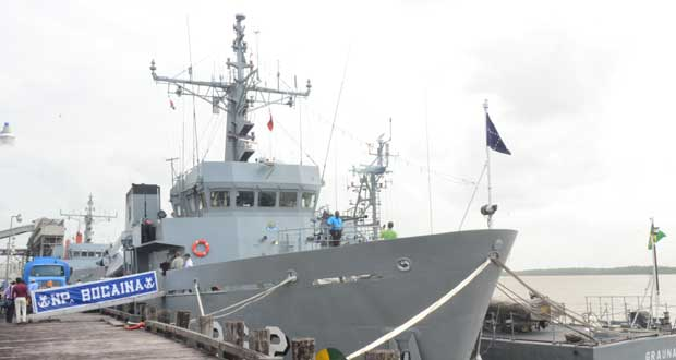Brazilian Naval vessels arrive for training exercise with GDF Coast Guard