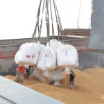 First shipment of paddy about to sail to Venezuela : - after delays due to unrest in neighbouring country