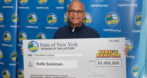 New York Lottery Ticket Holder