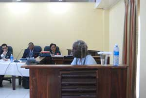 WPA co-leader, Mr. Eusi Kwayana at yesterday's hearing