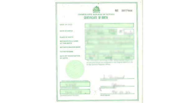 Birth certificates now have security features - Guyana Chronicle