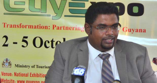 Tourism Minister Irfaan Ali woos transportation providers to GuyExpo