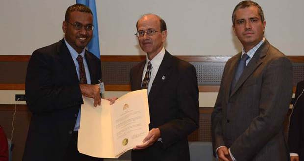 Guyana represented at United Nations' Minamata Convention on Mercury