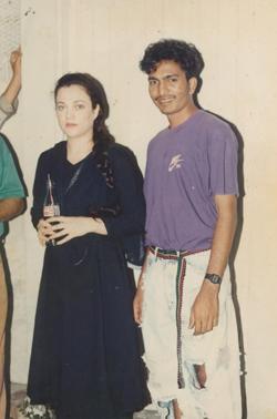 Asif with Bollywood Actress Mandikini