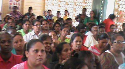 More parents waiting to collect their children's education grant made available by Government at the Abram Zuil Secondary School
