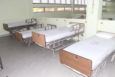 Prepared accommodation at the GPHC's Ebola isolation unit