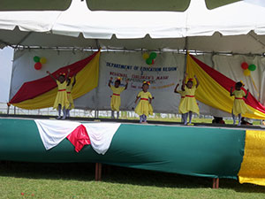 Children of Genesis Early Childhood performing their Religious Group Dance