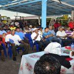 President Ramotar addressing one of meetings in Essequibo