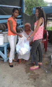 Member of the EYDG could be seen donating pampers to the elderly