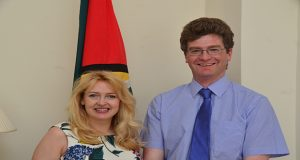 Mr. and Mrs. Greg Quinn, Guyana's newest British First Family