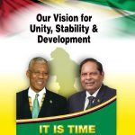 The cover of the 44-page joint 2015 plan from APNU+AFC