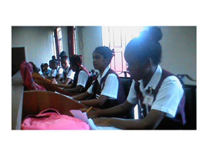 Students of Cotton Field Secondary at the debat