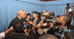 Head of State, Brigadier (rtd) David Granger addressing members of the media on Friday last