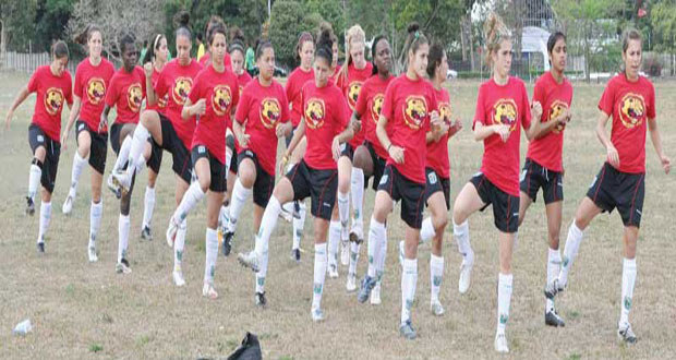 Flash-back ... Guyana's female National Football team aka 'Lady Jags'.