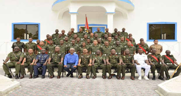 Remain steadfast to Army's core values – Commander-in-Chief Granger urges ranks on Standard Officers' Course # 48
