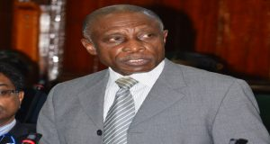 Foreign Minister, Mr Carl Greenidge at Parliament yesterday