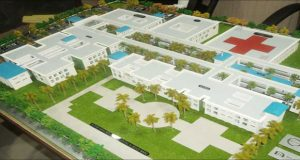 An artist's impression of the Specialty Hospital. The project has been put on the back burner