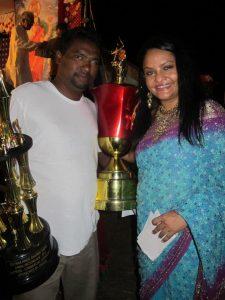 Andrew Juman and President of the Guyana Hindu Dharmic Sabha, Dr Vindyha Persaud
