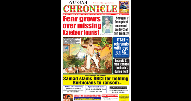 Guyana Chronicle E-Paper 2015-09-03