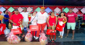 Winners of the 5th Annual Curried Duck Competition and senior Digicel managers