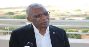 President David Granger during an interview with representatives of Guyana's State media in Malta, yesterday