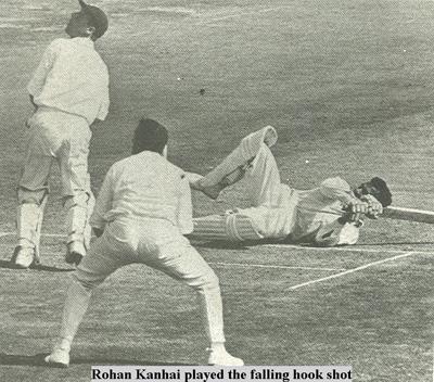 Rohan Kanhai played the falling hook shot