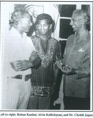 Left to right; Rohan Kanhai, Alvin Kallicharran and Dr. Cheddi Jagan