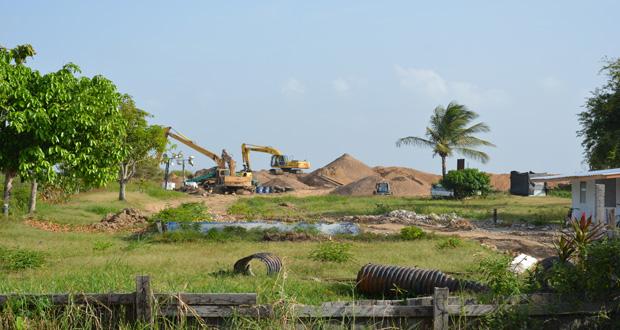 Major Sea Defence Works Underway At Leguan Guyana Chronicle