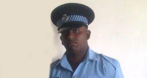 Injured policeman  David Lall.