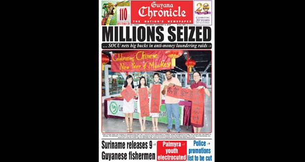 Guyana Chronicle E-Paper 02-06-2016