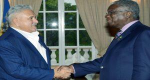 Indian businessman Vijay Mallya recently met with Prime Minister Freundel Stuart