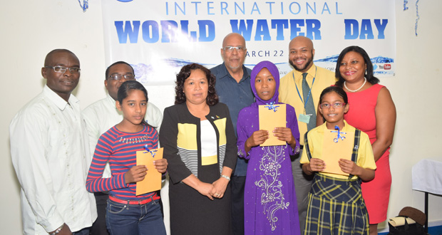 World Water Day Essay Winners Receive Prizes  Guyana Chronicle The Winners Of The Essay Competition Flanked  Science Fair Essay also Compare And Contrast High School And College Essay  Thesis For A Persuasive Essay