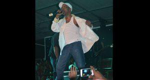 Beres Hammond during a performance at the 50 Shades of Reggae mega concert