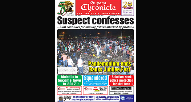 Guyana Chronicle E-Paper 30 05 2016