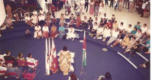 Then member of the Guyana Women Artists' Association (GWAA) Professor Doris Rogers addressed the audience at the 1994 opening of their exhibition at the Scarborough Civic Center in Canada. GWAA remains one of the few surviving artist-led initiatives in Guyana that is still actively hosting events each year since its establishment in 1987