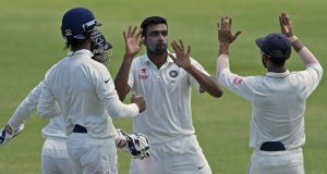 Ravichandran  Ashwin scored his third Test hundred before taking his 17th five-wicket haul to help India to an innings and  92-run victory in Antigua. © AFP
