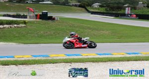 Elliot Vieira is seen during last year's CMRC action in Barbados.