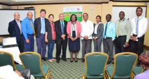 Public Health officials and training facilitators at the launch of the Hospital Safety Index and Green Checklist course