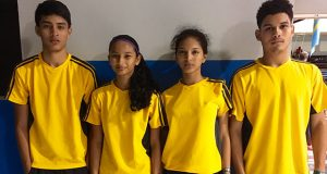 The Guyana team at the Caribbean Badminton Team Championships 2016