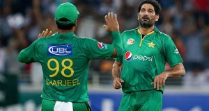 Sohail Tanvir completed 50 T20I wickets and finished with 3 for 13 in four overs as  Pakistan beatWest Indies in  2nd T20I in Dubai, yesterday. © Getty Images
