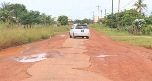 Another one of the deplorable roads in Tabatinga