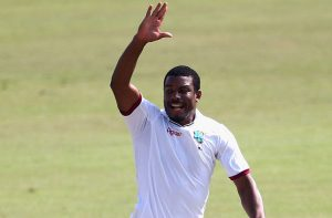 Pacy Shannon Gabriel picked up two wickets in the very first over of the day.