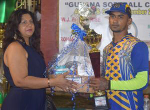 Man- of- the- Match Waiz Hussain collects his prizes