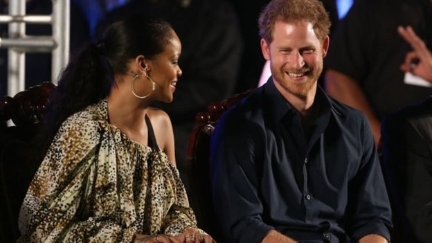Prince Harry meets popstar Rihanna in Barbados