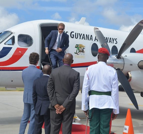 Photos of Prince Harry in Guyana
